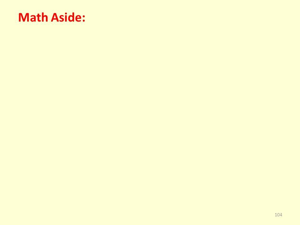 Math Aside: