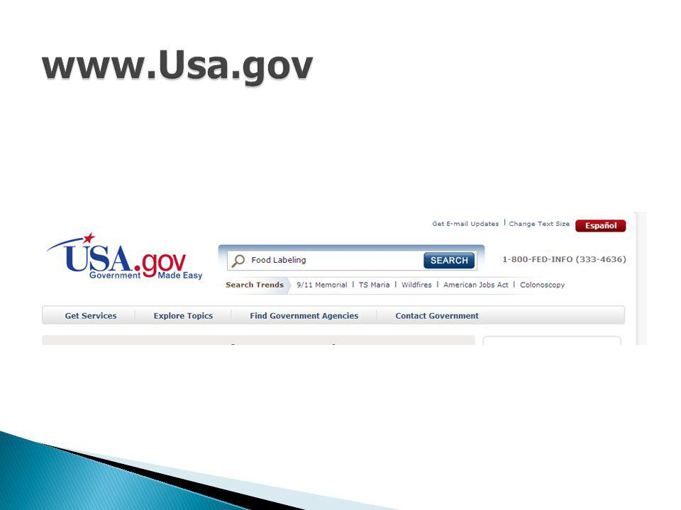 www.Usa.gov For the light-cheese example, enter the sample search term food labeling.