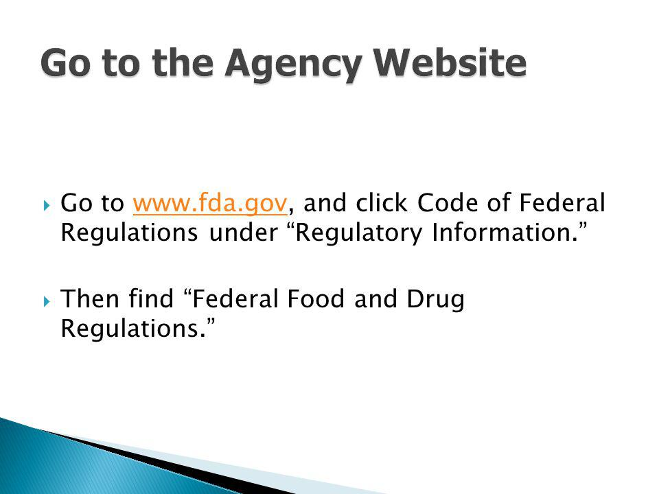 Go to the Agency Website