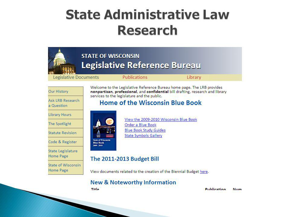 State Administrative Law Research