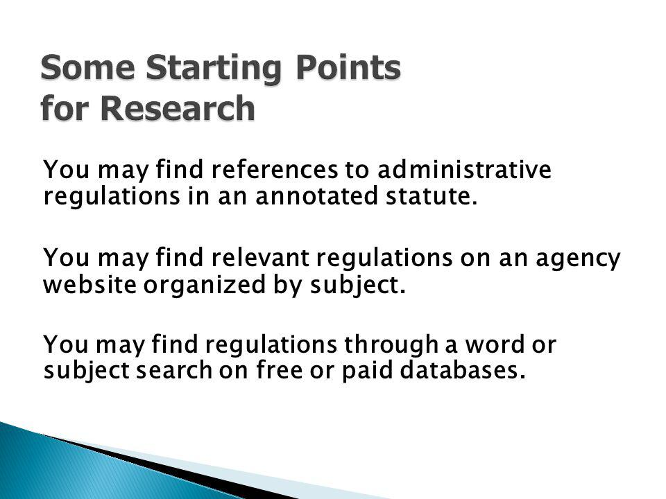 Some Starting Points for Research
