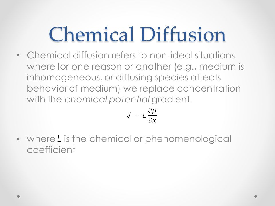 Chemical Diffusion