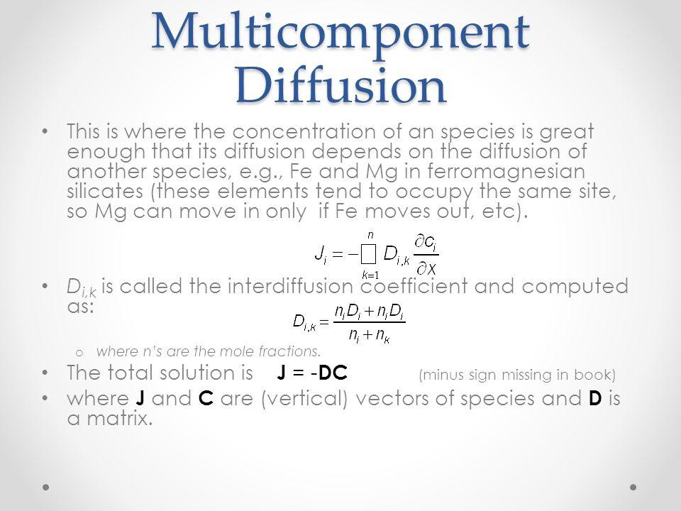Multicomponent Diffusion