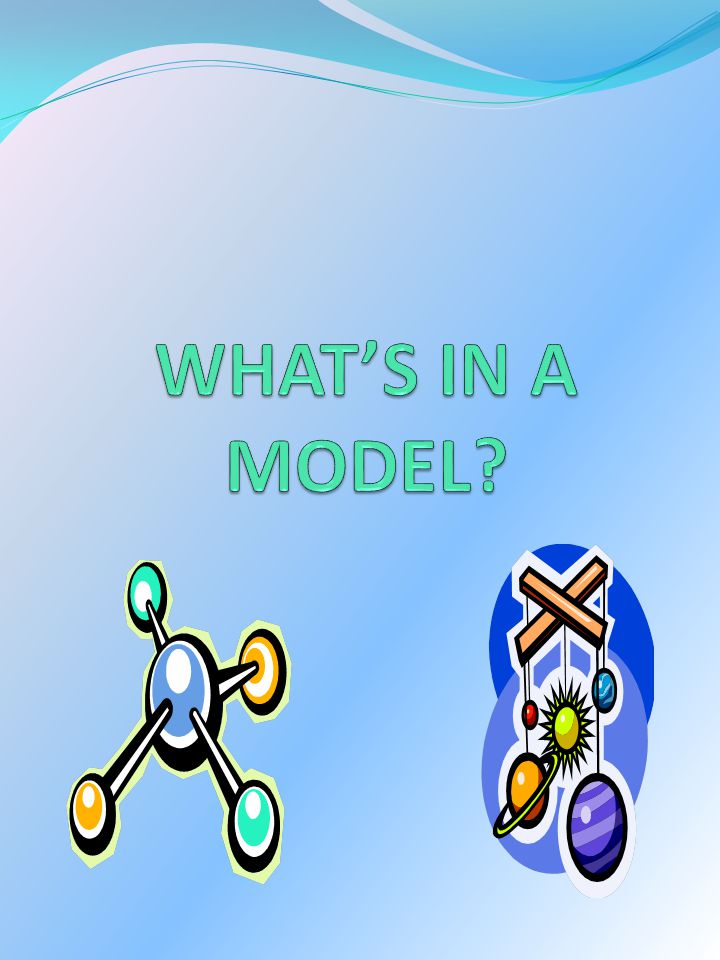 WHAT'S IN A MODEL