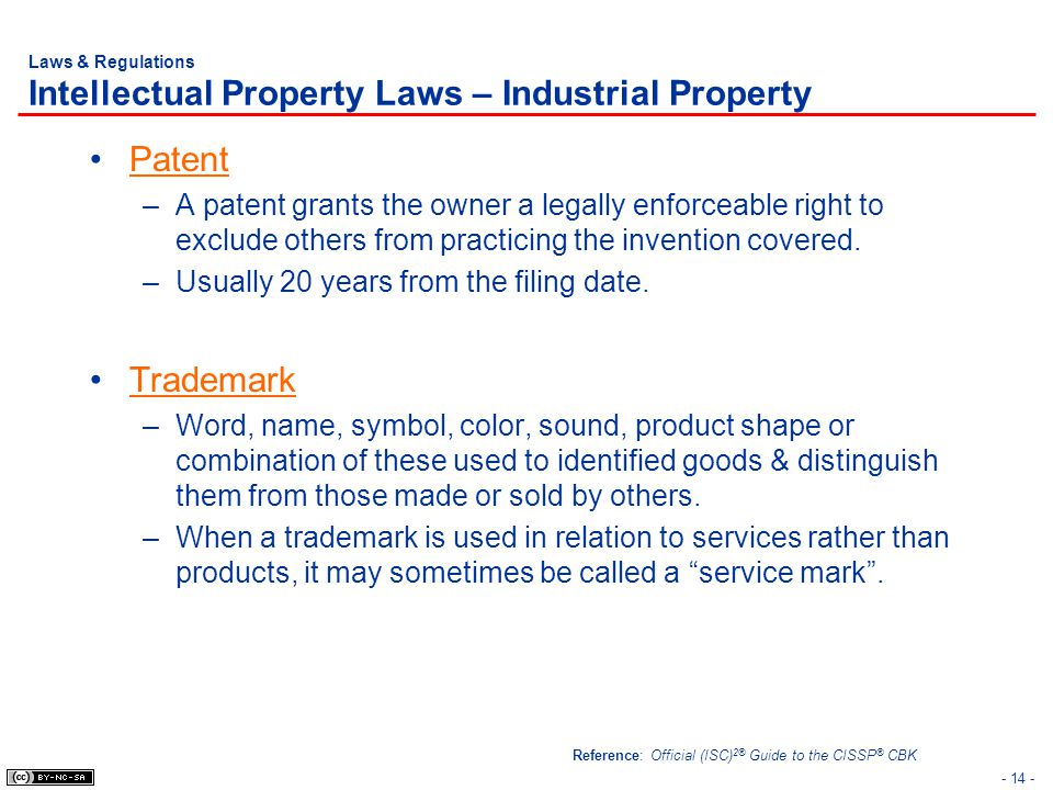 Laws & Regulations Intellectual Property Laws – Industrial Property