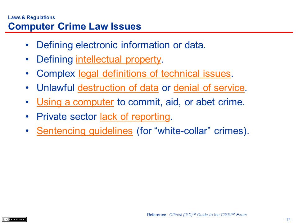 Laws & Regulations Computer Crime Law Issues