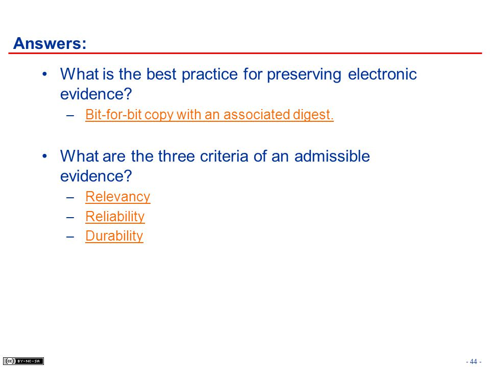 What is the best practice for preserving electronic evidence