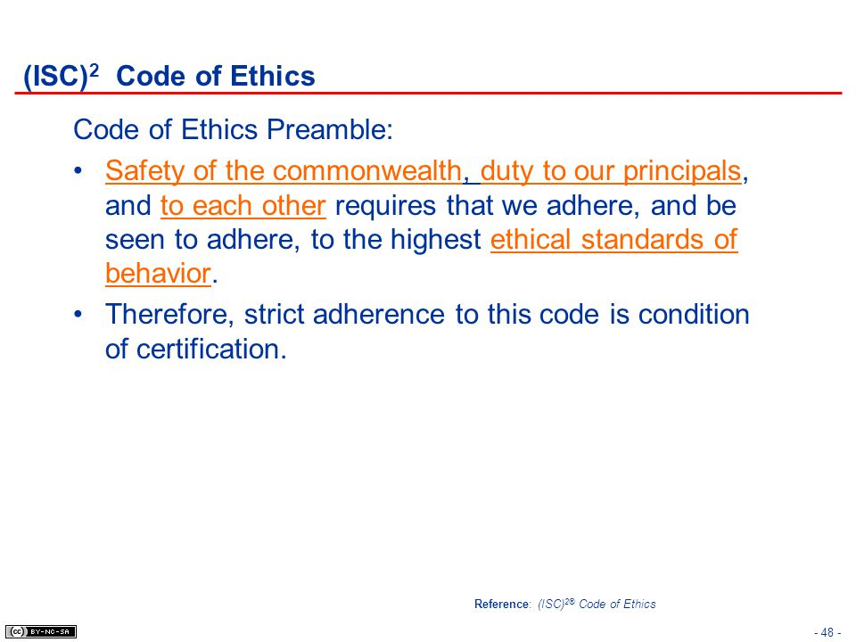 Code of Ethics Preamble: