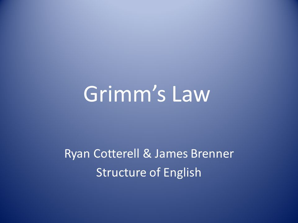 Ryan Cotterell & James Brenner Structure of English