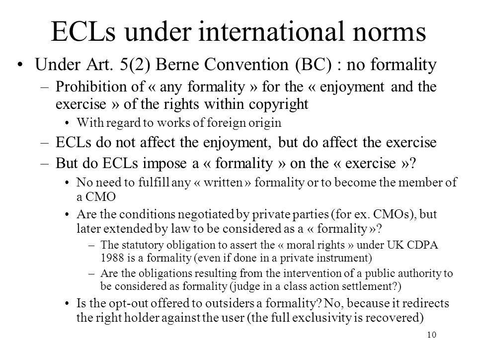 ECLs under international norms