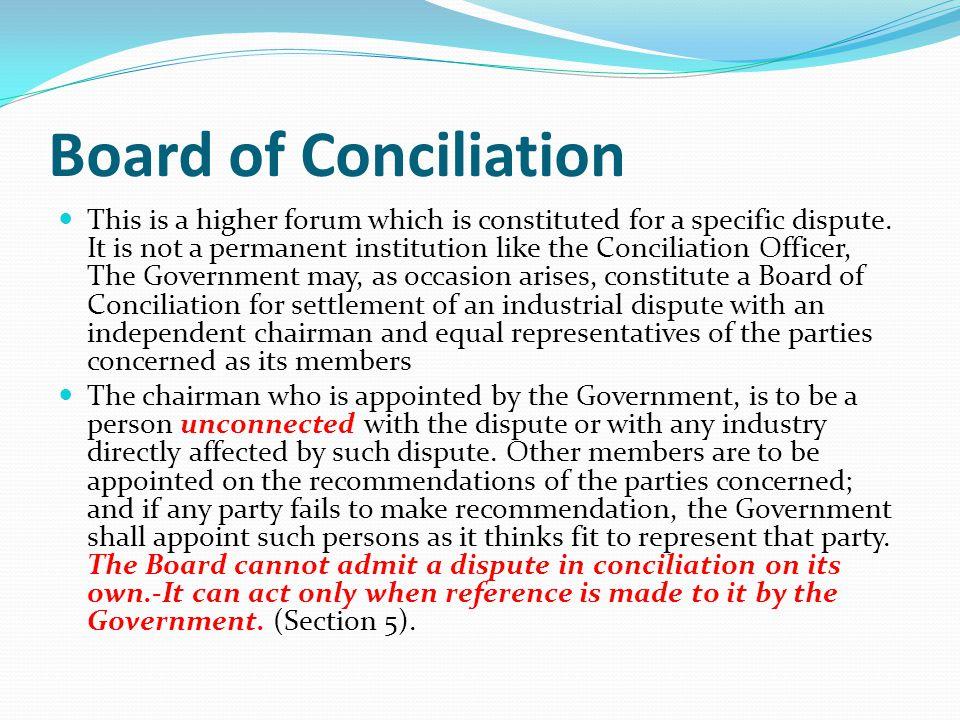 Board of Conciliation