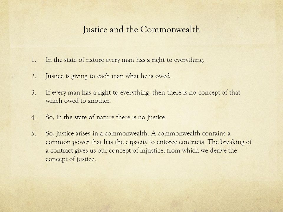 Justice and the Commonwealth