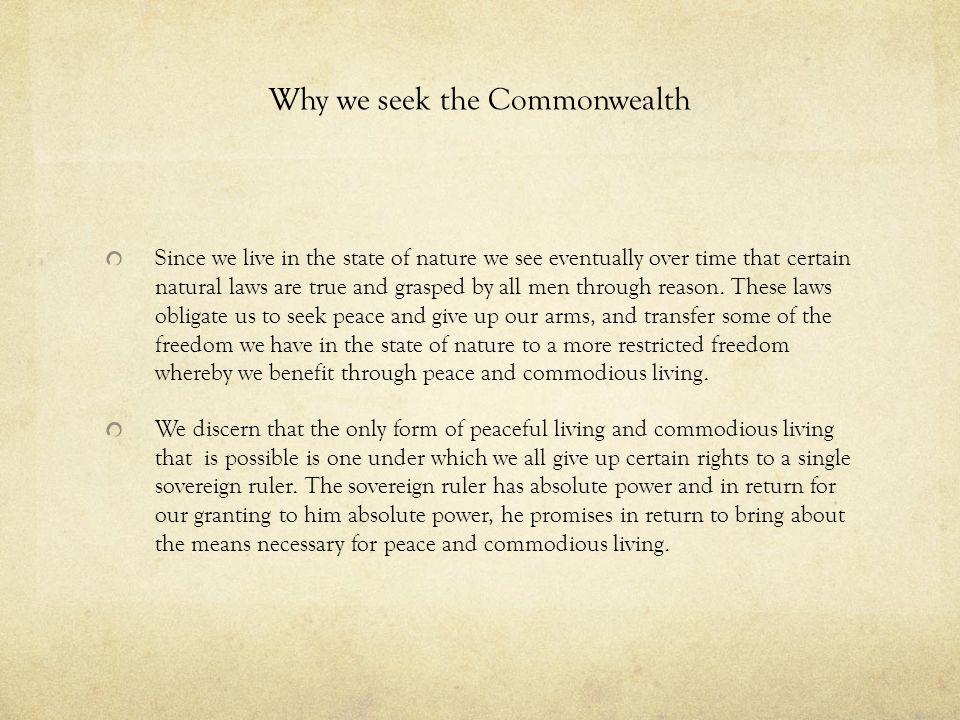 Why we seek the Commonwealth