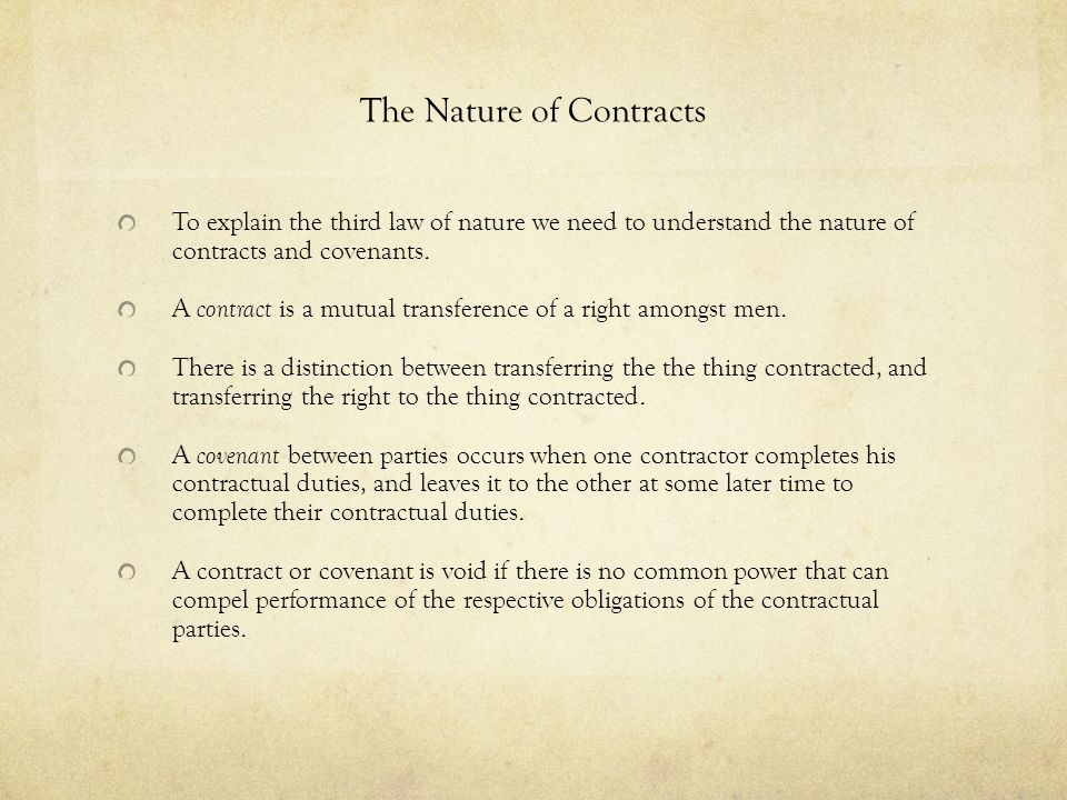 The Nature of Contracts