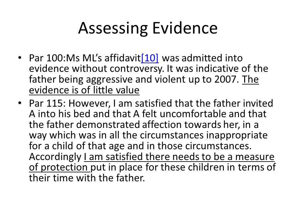 Assessing Evidence