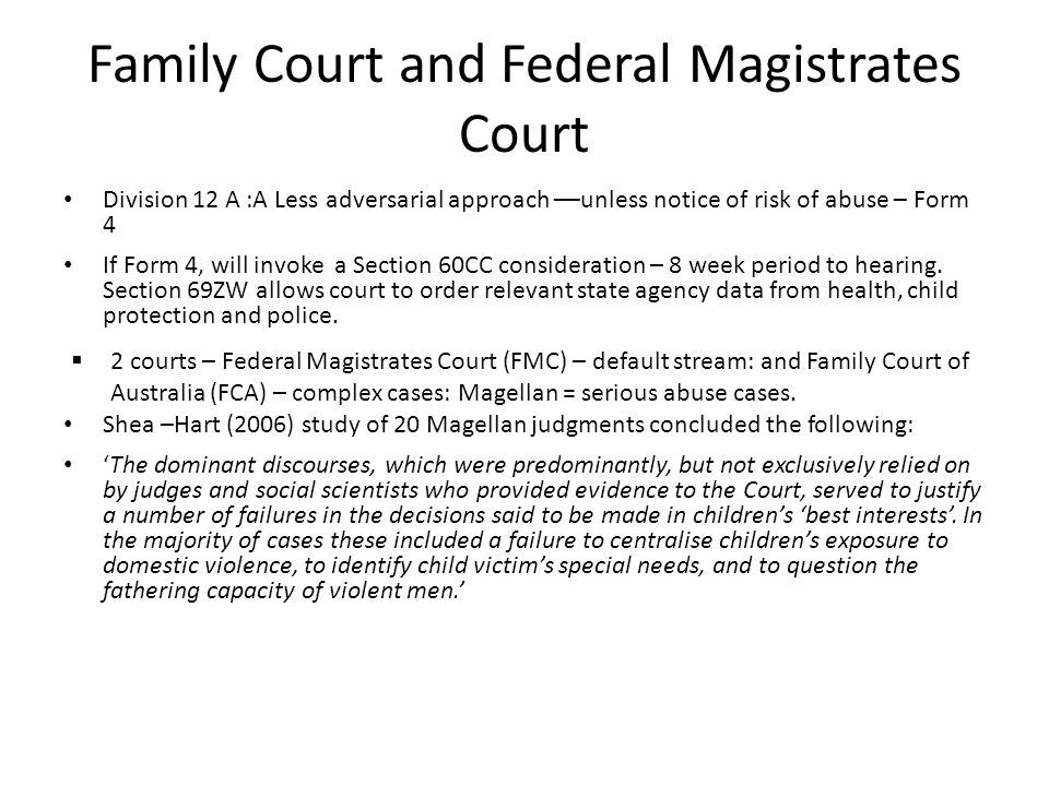 Family Court and Federal Magistrates Court