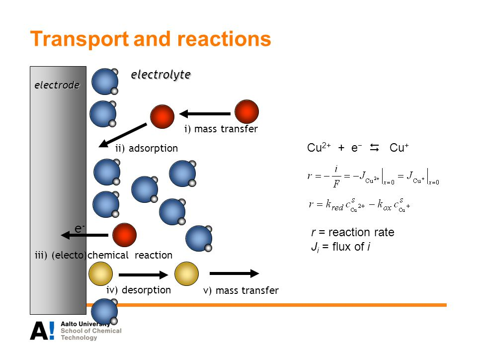 Transport and reactions