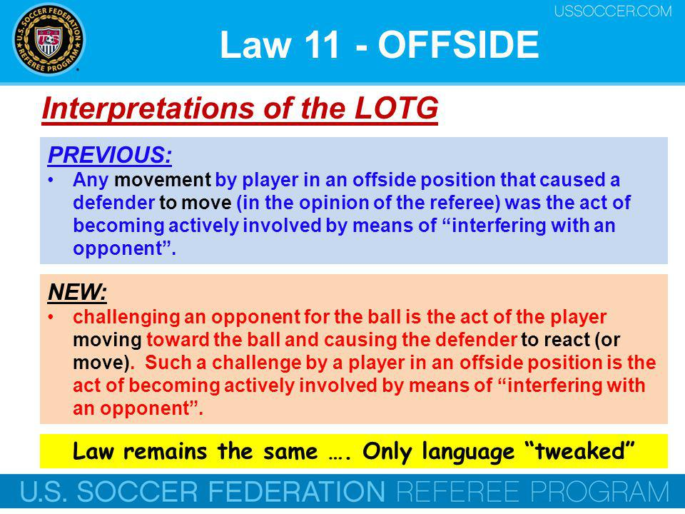 Law remains the same …. Only language tweaked