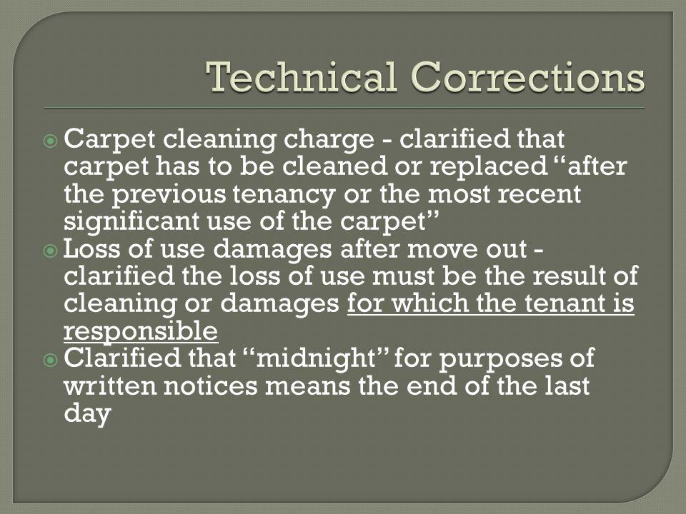 Technical Corrections