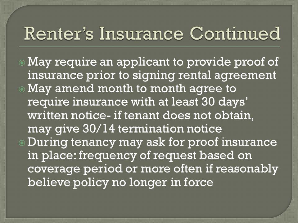 Renter's Insurance Continued