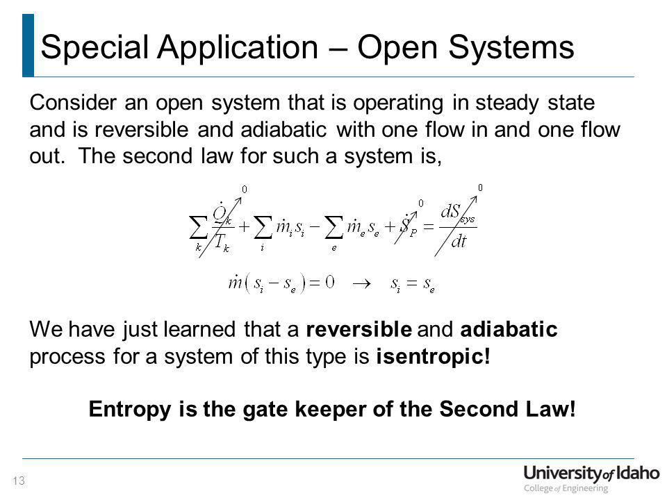 Special Application – Open Systems