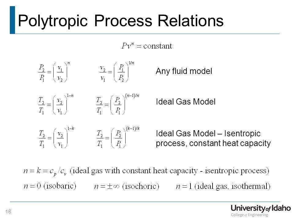 Polytropic Process Relations