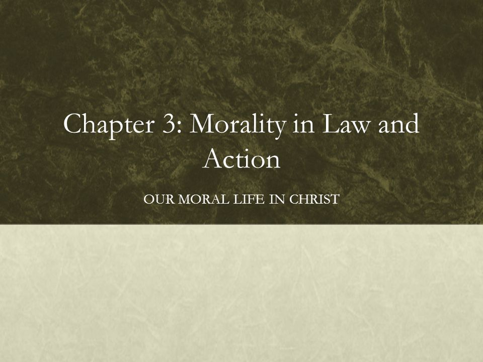 Chapter 3: Morality in Law and Action