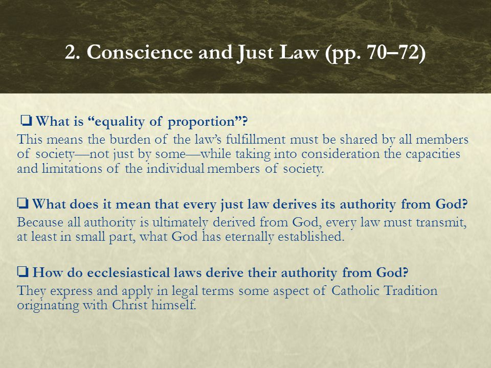 2. Conscience and Just Law (pp. 70–72)
