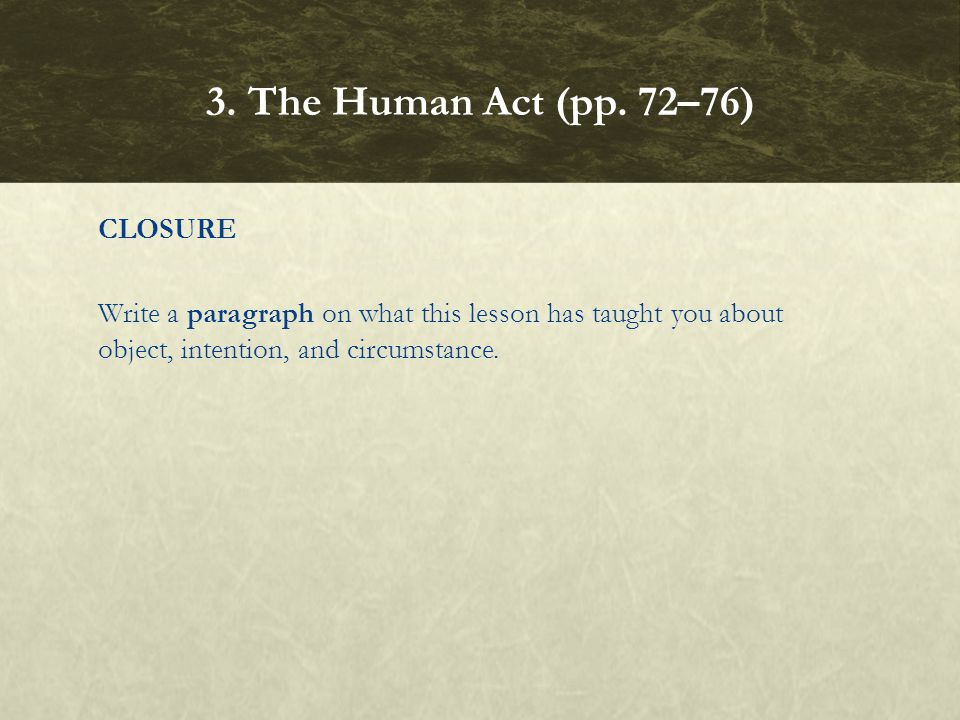 3. The Human Act (pp.