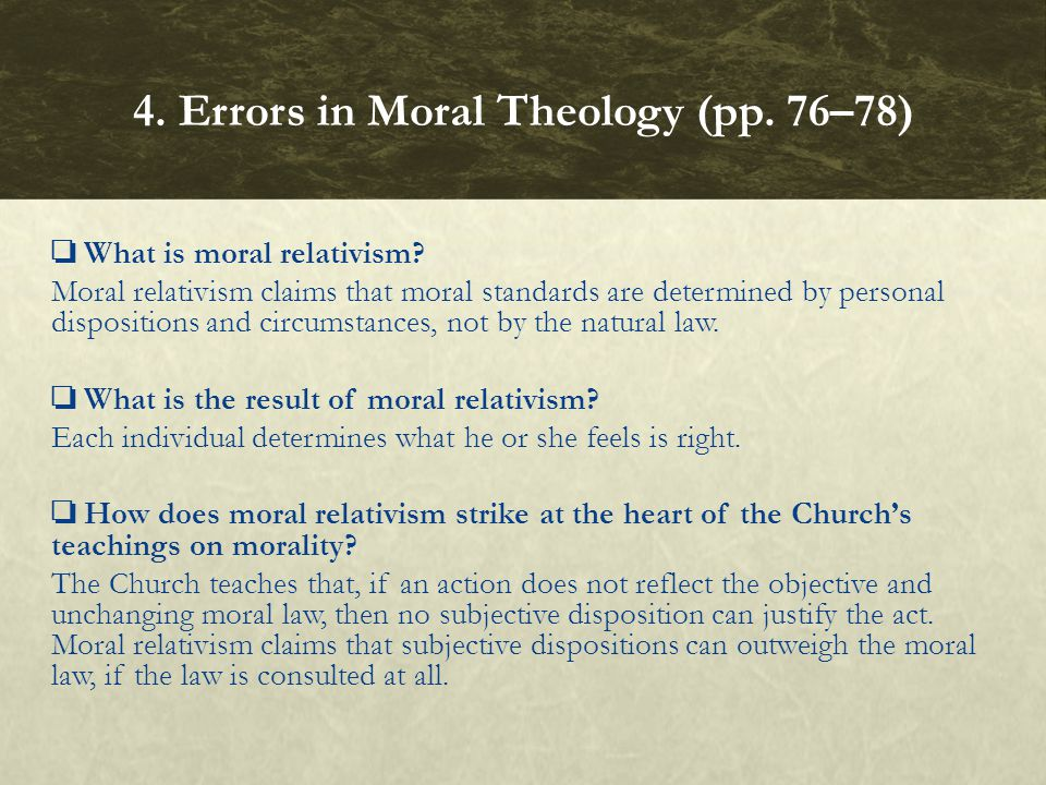 4. Errors in Moral Theology (pp. 76–78)
