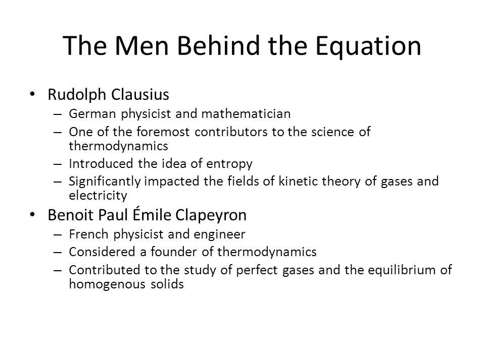 The Men Behind the Equation
