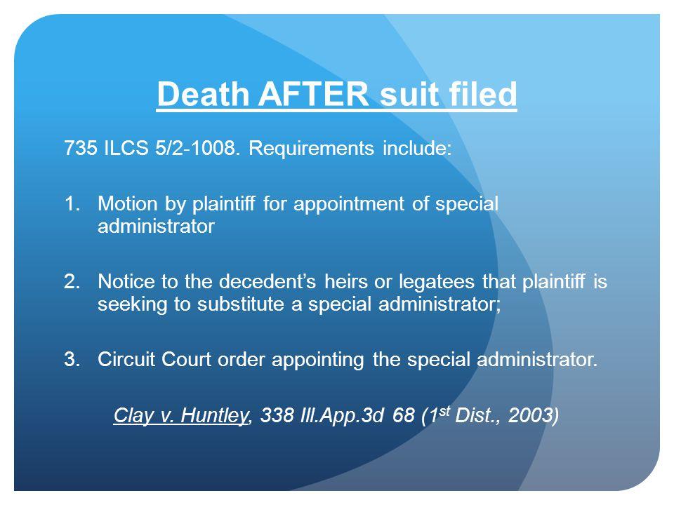 Clay v. Huntley, 338 Ill.App.3d 68 (1st Dist., 2003)
