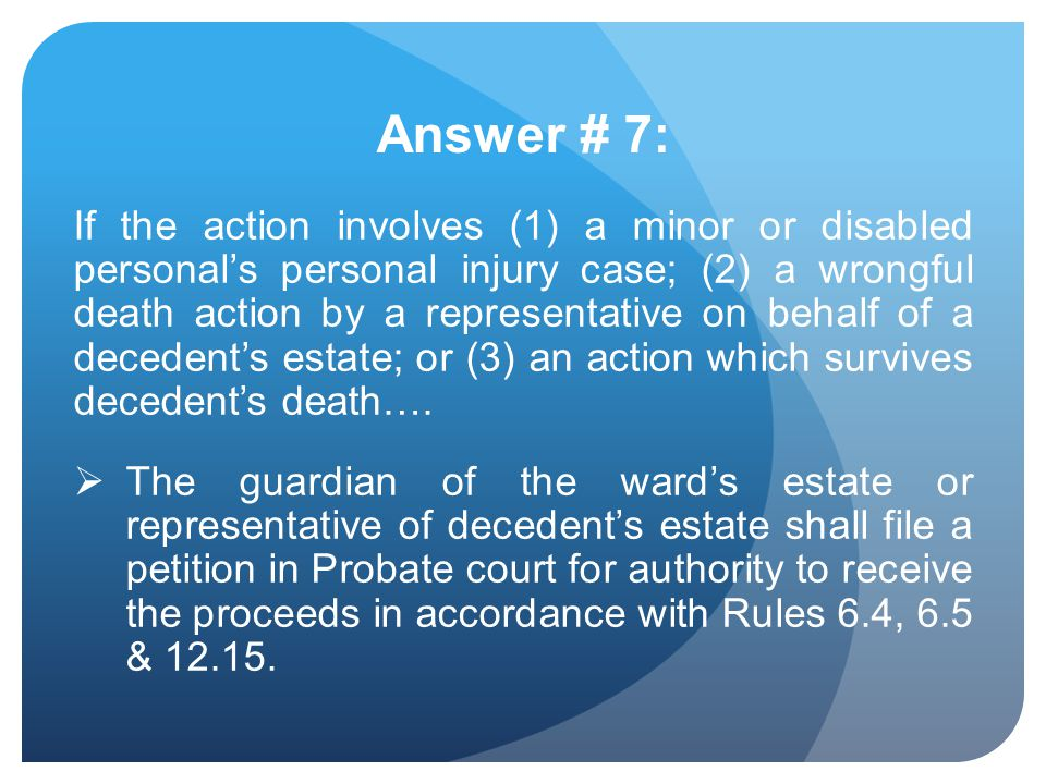 Answer # 7: