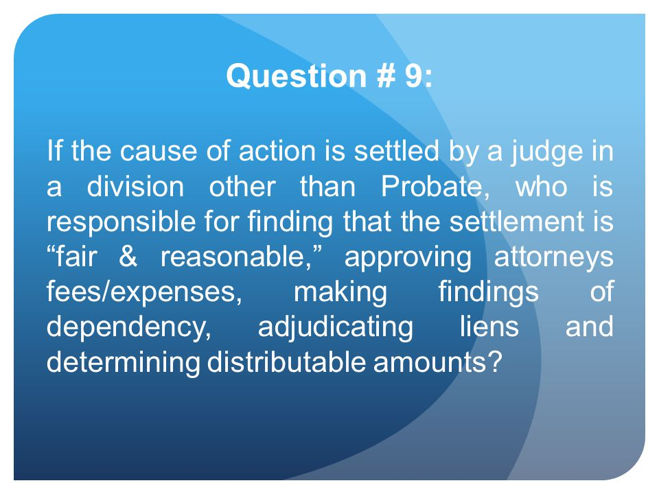 Question # 9: