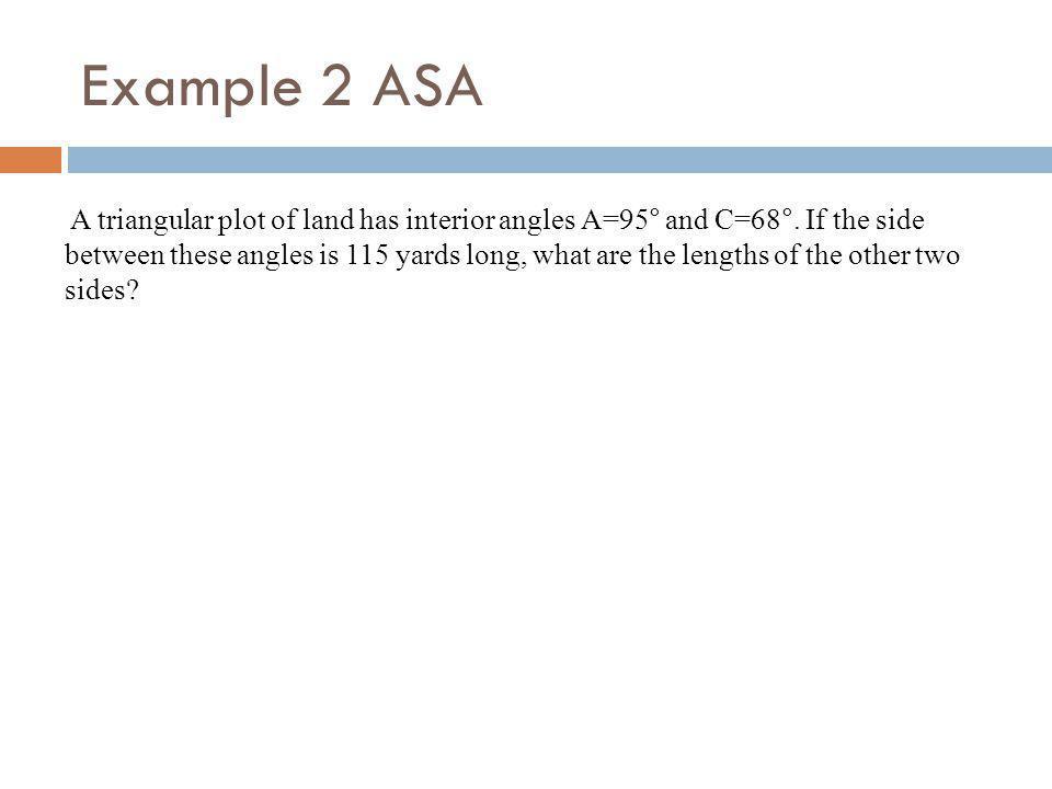 Example 2 ASA