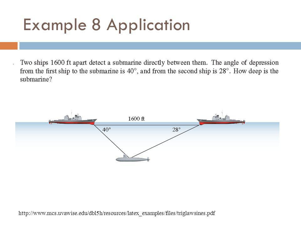 Example 8 Application