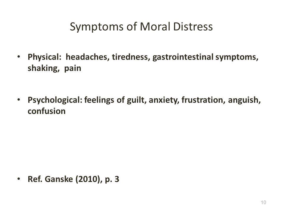 Symptoms of Moral Distress