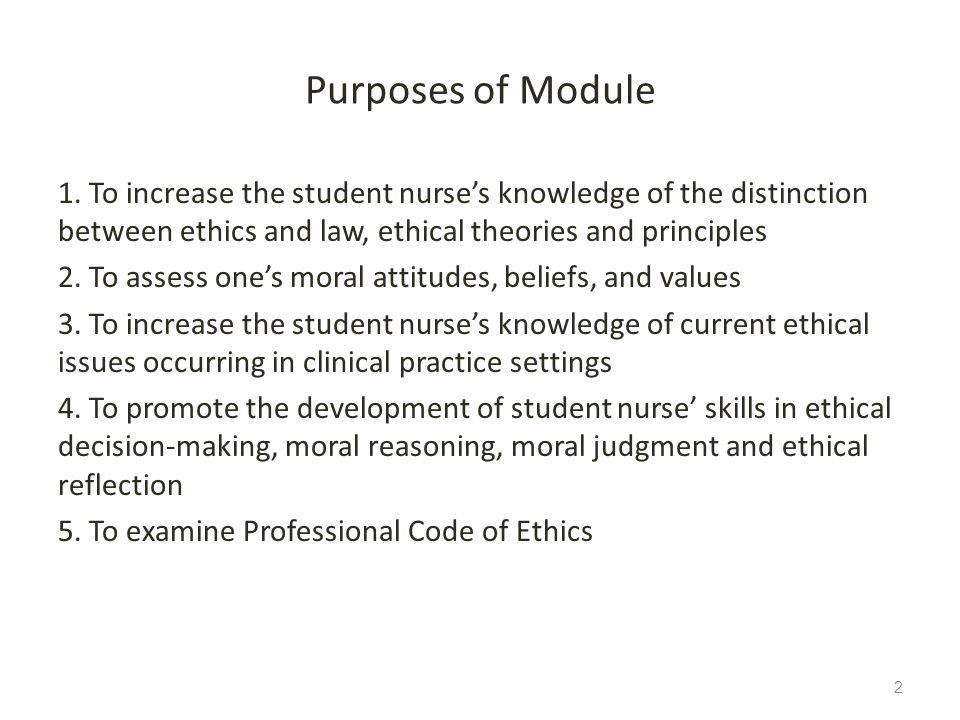 Purposes of Module