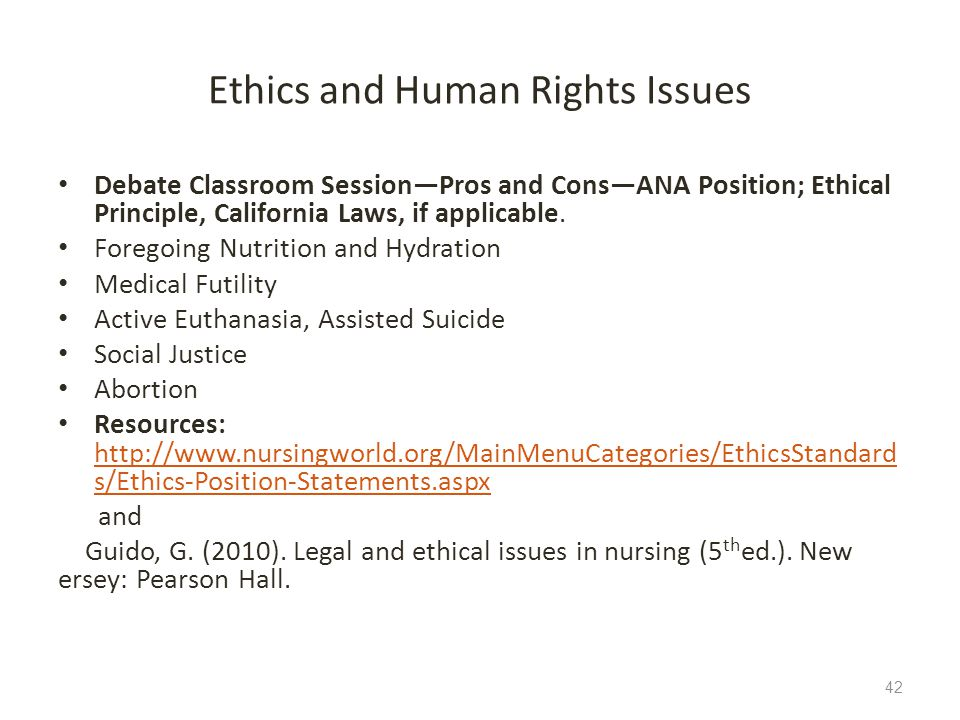 Ethics and Human Rights Issues