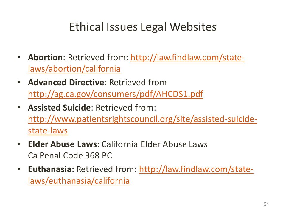 Ethical Issues Legal Websites
