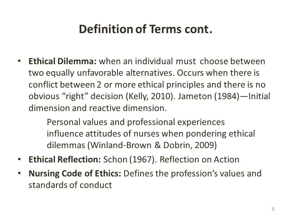 ethical decision reflection