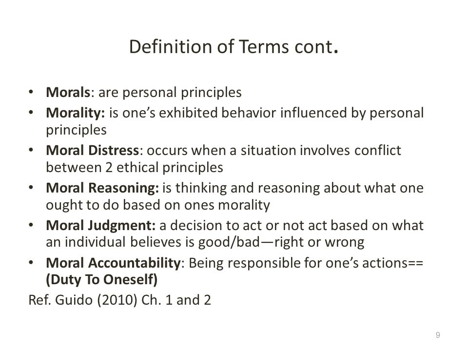 Definition of Terms cont.