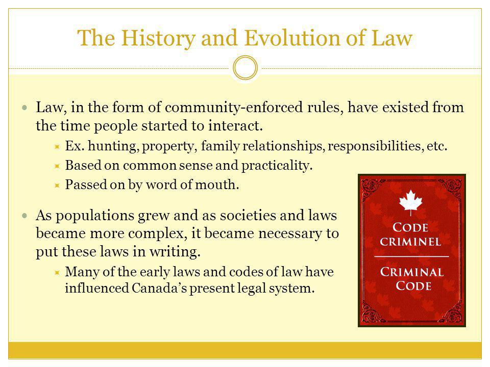 The History and Evolution of Law