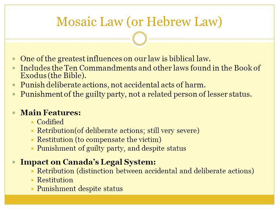 Mosaic Law (or Hebrew Law)