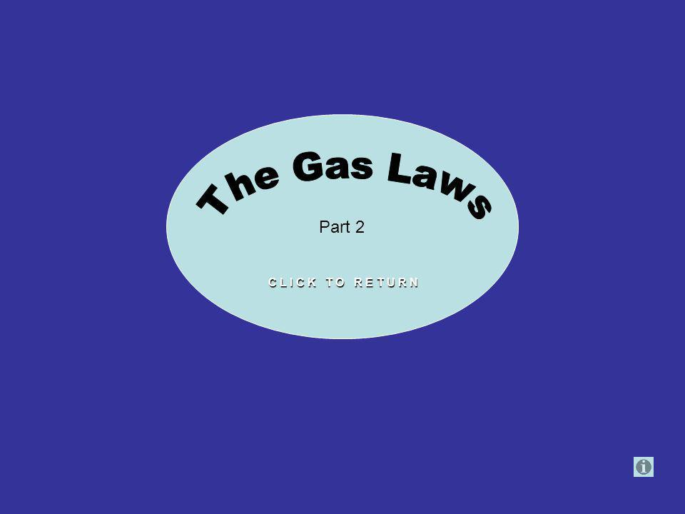 Part 2 The Gas Laws C L I C K T O R E T U R N