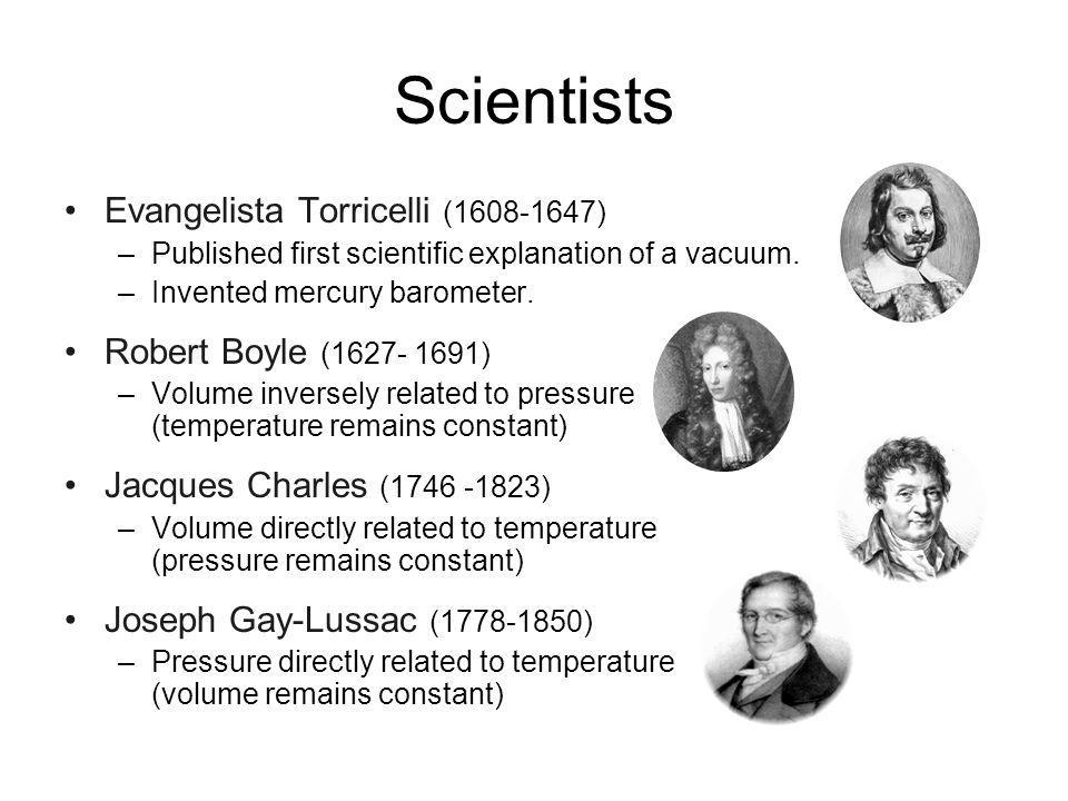 Scientists Evangelista Torricelli (1608-1647)