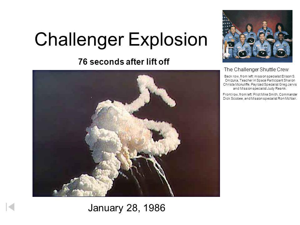 The Challenger Shuttle Crew