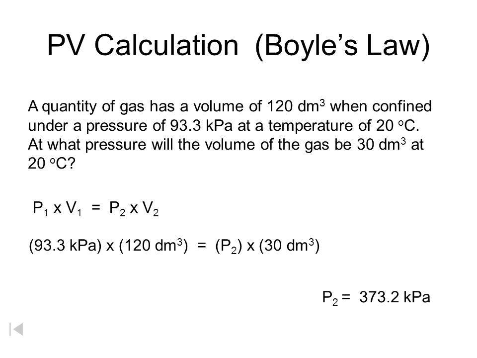 PV Calculation (Boyle's Law)