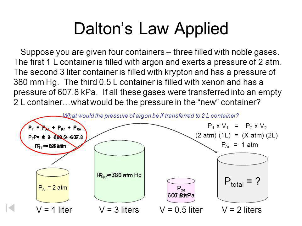 What would the pressure of argon be if transferred to 2 L container