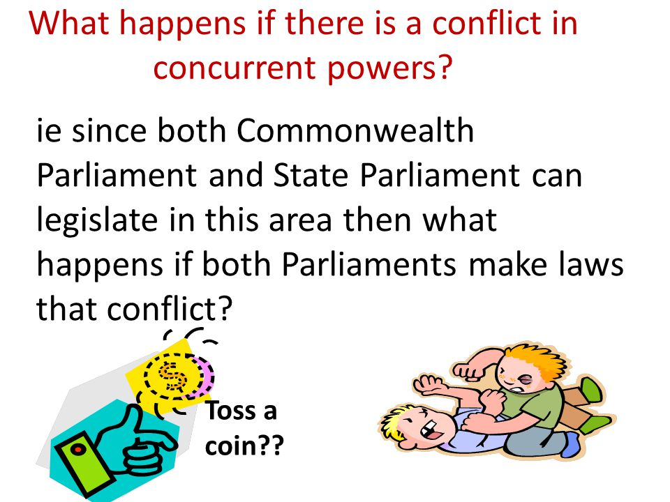 What happens if there is a conflict in concurrent powers